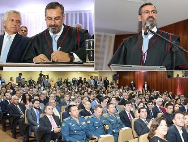 Aylton Vechi toma posse como procurador-geral de Justiça de Goiás