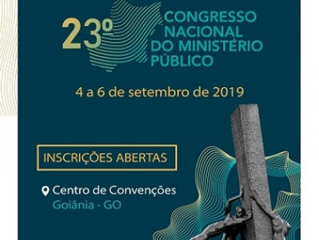 Abertas as inscrições para o XXIII Congresso Nacional do Ministério Público