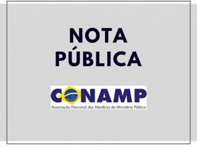 Nota pública de defesa do sistema acusatório e das prerrogativas do Ministério Público