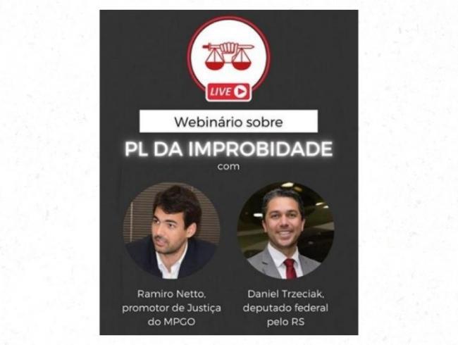 AGMP promove live sobre PL da Improbidade - assista