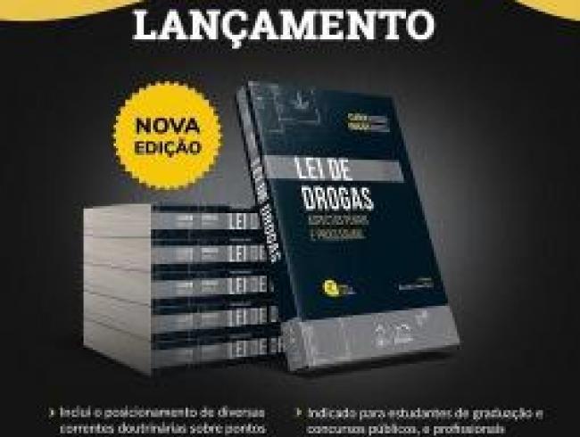 Promotor Vinícius Marçal lança seu novo livro: Lei de Drogas, Aspectos Penais e Processuais