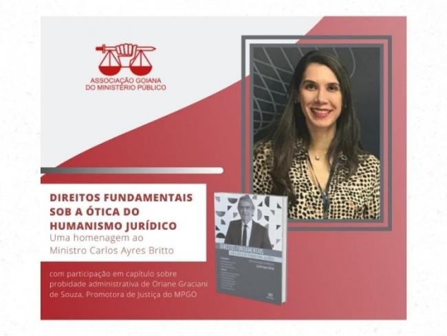 Promotora Oriane de Souza participa de livro em homenagem a Ayres Britto