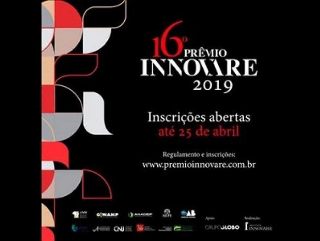 Inscrições abertas para a edição 2019 do Prêmio Innovare