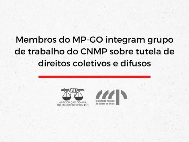 Membros do MP-GO integram grupo de trabalho do CNMP sobre tutela de direitos coletivos e difusos