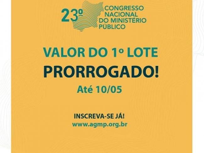 Congresso do MP: prorrogadas as inscrições com valor promocional do primeiro lote