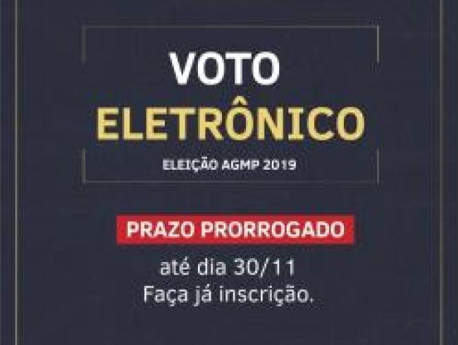 Eleição AGMP: reaberto prazo para adesão ao voto eletrônico