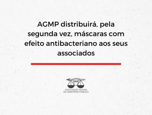 AGMP distribuirá, pela segunda vez, máscaras com efeito antibacteriano aos seus associados