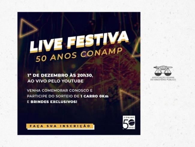 Live Festiva marca início das comemorações dos 50 anos da CONAMP