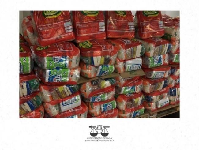 Campanha de arrecadação de alimentos da AGMP doa 4 toneladas em cestas básicas no mês de maio